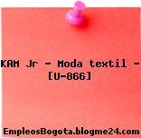 KAM Jr – Moda textil – [U-866]