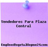 Vendedores Para Plaza Central