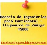 Becario de Ingenierías para Continental – Tlajomulco de Zúñiga $5000