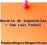 Becario de Ingenierías – San Luis Potosí