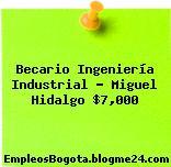 Becario Ingeniería Industrial – Miguel Hidalgo $7,000