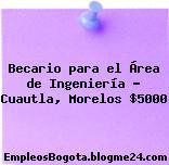 Becario para el Área de Ingeniería – Cuautla, Morelos $5000