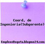 Coord. de Ingenieria(Subgerente)