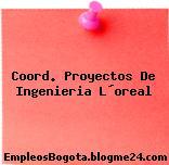 Coord. Proyectos De Ingenieria L´oreal