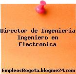 Director de Ingenieria Ingeniero en Electronica