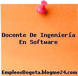 Docente De Ingeniería En Software