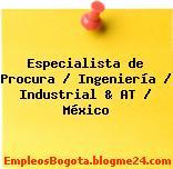Especialista de Procura / Ingeniería / Industrial & AT / México
