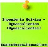Ingeniería Quimica – Aguascalientes (Aguascalientes)