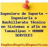 Ingeniero de Soporte – Ingeniería o Bachillerato Técnico en Sistemas o afín en Tamaulipas – HUMAN SERVICES