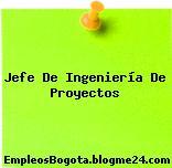 Jefe De Ingeniería De Proyectos