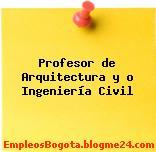 Profesor de Arquitectura y o Ingeniería Civil