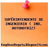 SUPÉRINTENDENTE DE INGENIERIA ( IND. AUTOMOTRIZ)