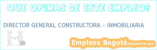 DIRECTOR GENERAL CONSTRUCTORA – INMOBILIARIA