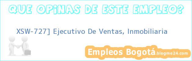 XSW-727] Ejecutivo De Ventas, Inmobiliaria