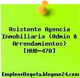 Asistente Agencia Inmobiliaria (Admin & Arrendamientos) [HUB-470]