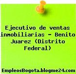 Ejecutivo de ventas inmobiliarias – Benito Juarez (Distrito Federal)