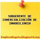 SUBGERENTE DE COMERCIALIZACIÓN DE INMOBILIARIA
