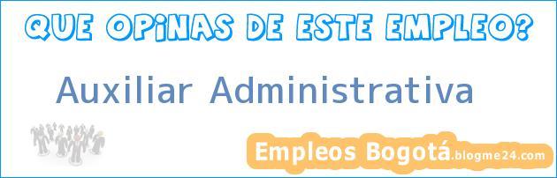 Auxiliar Administrativa