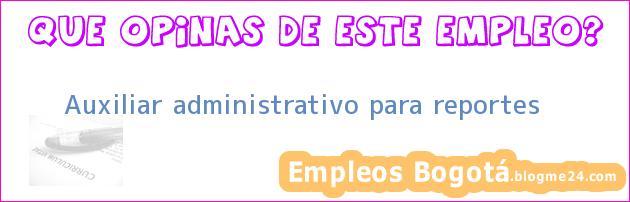 Auxiliar administrativo para reportes
