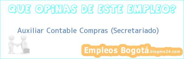 Auxiliar Contable Compras (Secretariado)