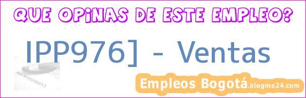 IPP976] – Ventas