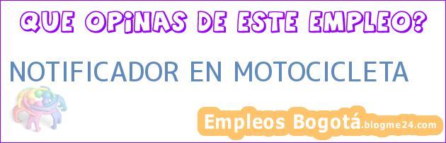 NOTIFICADOR EN MOTOCICLETA