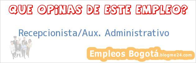 Recepcionista/Aux. Administrativo