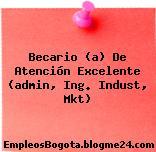 Becario (a) De Atención Excelente (admin, Ing. Indust, Mkt)