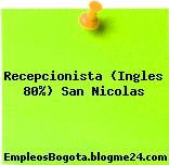 Recepcionista (Ingles 80%) San Nicolas