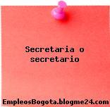 Secretaria o secretario