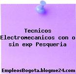 Tecnicos Electromecanicos con o sin exp Pesqueria
