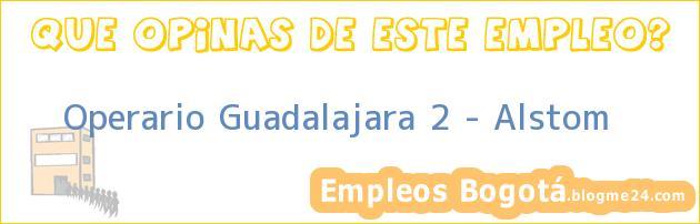 Operario Guadalajara 2 – Alstom