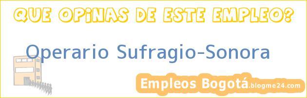 Operario Sufragio-Sonora