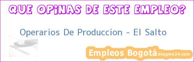 Operarios De Produccion – El Salto