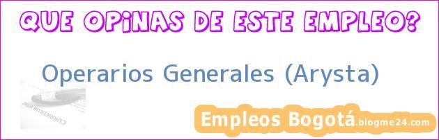 Operarios Generales (Arysta)