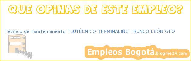 Técnico de mantenimiento TSUTÉCNICO TERMINALING TRUNCO LEÓN GTO