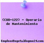 (CUO-122) – Operario de Mantenimiento