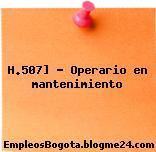 H.507] – Operario en mantenimiento