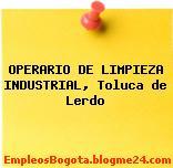 OPERARIO DE LIMPIEZA INDUSTRIAL, Toluca de Lerdo