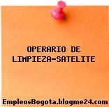 OPERARIO DE LIMPIEZA-SATELITE