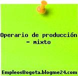 Operario de producción – mixto