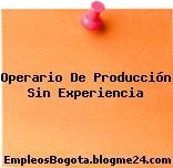 Operario De Producción Sin Experiencia