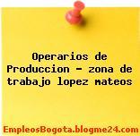 Operarios de Produccion – zona de trabajo lopez mateos