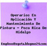 Operarios En Aplicación Y Mantenimiento De Pintura – Poza Rica De Hidalgo