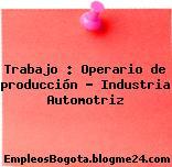 Trabajo : Operario de producción – Industria Automotriz
