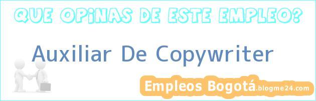 Auxiliar De Copywriter