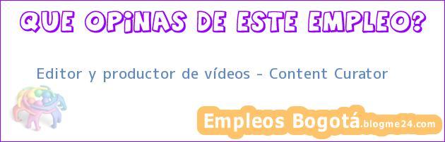 Editor y productor de vídeos – Content Curator