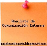 Analista de Comunicación Interna