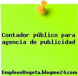 Contador público para agencia de publicidad