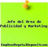 Jefe del Area de Publicidad y Marketing